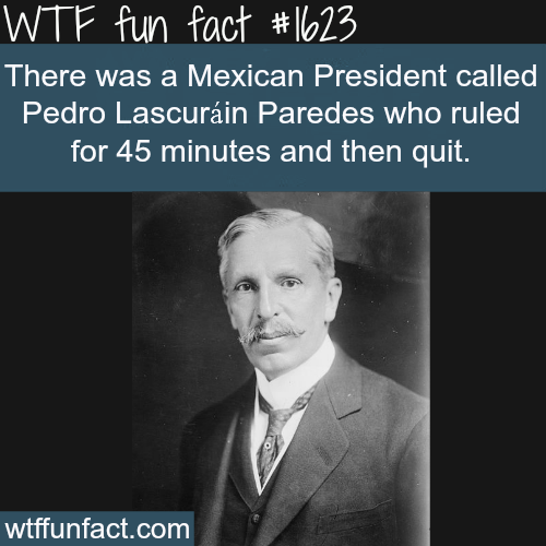 Shortest Serving President in the world - WTF fun facts