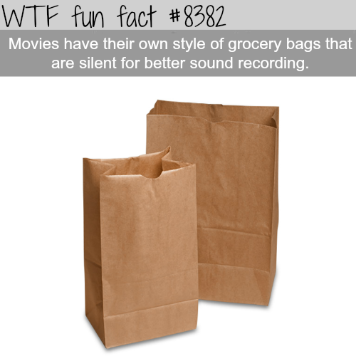 Silent grocery bags for movies - WTF fun facts