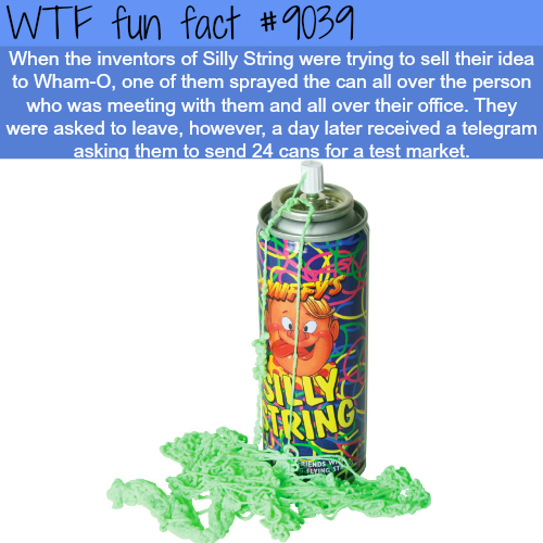 Silly String - WTF fun facts