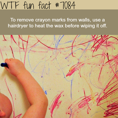 Simple way to remove crayons from walls - WTF fun facts