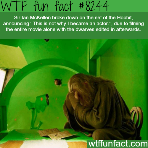 Sir Ian McKellen crying on the set of the Hobbit - WTF fun facts