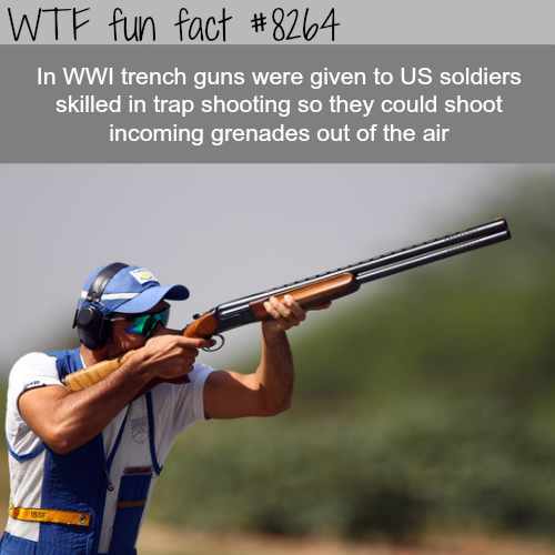 Skilled trap shooters were employed by the U.S. in WW1 - WTF fun facts