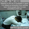 sleeping on the job is acceptable in japan it is viewed