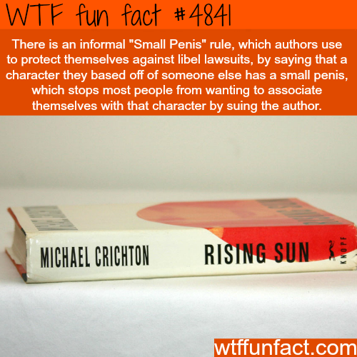 Small penis rule - WTF fun facts