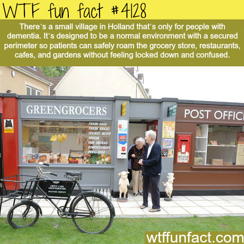 Small village in Holland designed for people with Dementia -  WTF fun facts