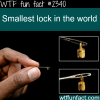 smallest lock in the world