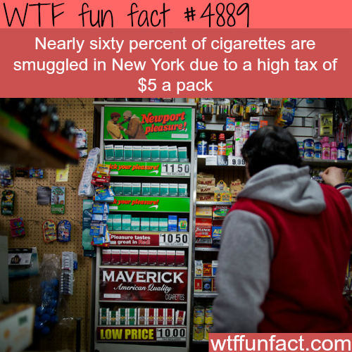 Smuggled cigarettes in New York  -