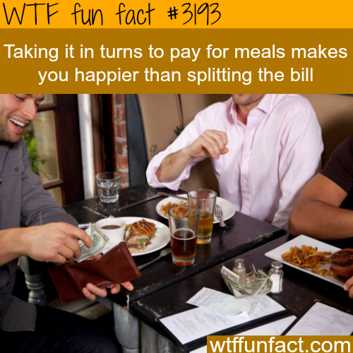 Split the bill or pay it all? -WTF fun facts