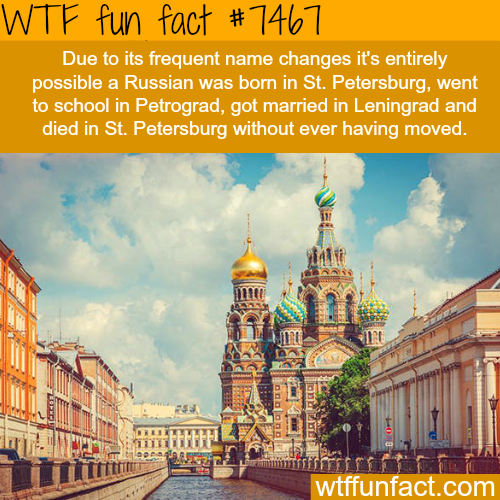 St. Petersburg name changes - FACTS