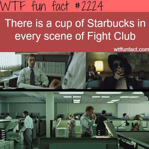 Starbucks cup in Fight Club-WTF fun facts