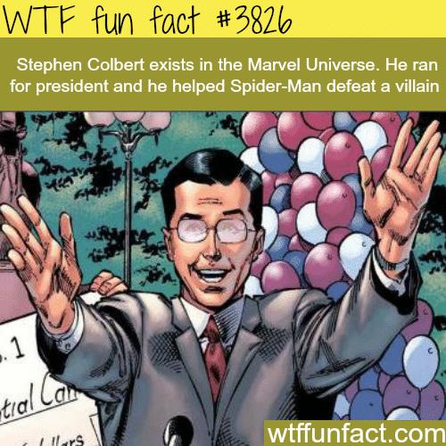 Stephen Colbert in the Marvel Universe