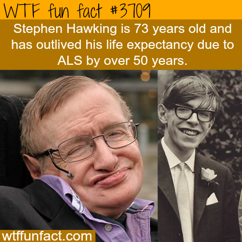Stephen Hawking outlives his life expectancy by 50 years - WTF fun facts