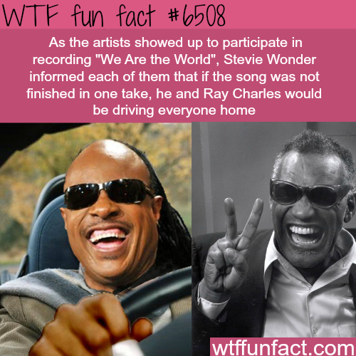 Stevie Wonder and Ray Charles - WTF fun facts