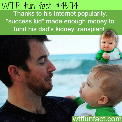 Success kid funds his dad's kidney transplant -   WTF fun facts