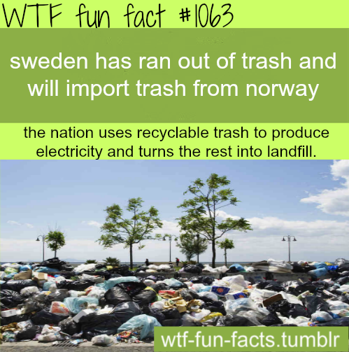 Sweden uses trash to Produce energy. Learn from them