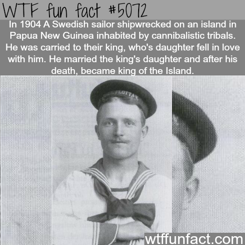 Swedish Sailor shipwrecked on and island