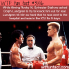 sylvester stallone got punched by dolph lundgren
