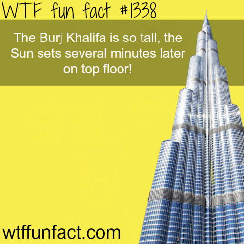 How tall is burj khalifa ? - tallest building in the world