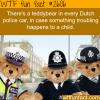 teddybears in dutch police cars