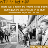 telephone booth stuffing wtf fun facts