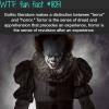 terror and horror wtf fun fact