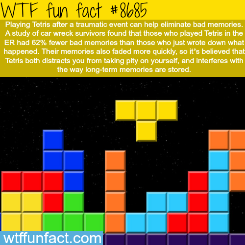 Tetris can help you with traumatic events - WTF fun facts