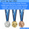 the 2010 vancouver winter olympic medals were the