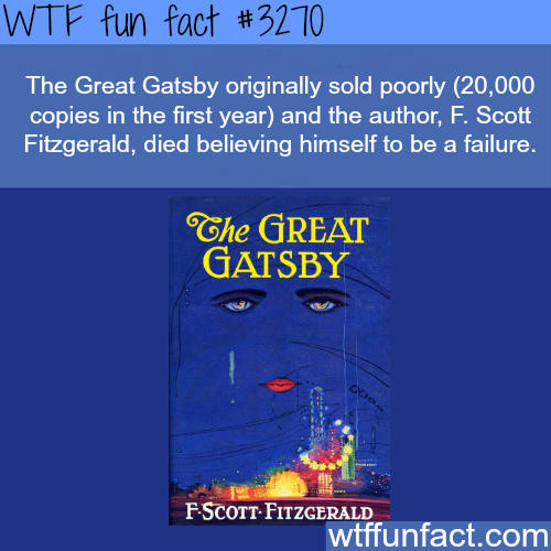 """The author of """"The Great Gatsby"""" -WTF fun facts"""