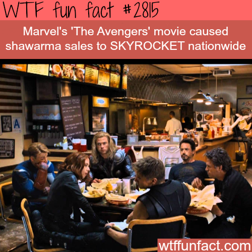 The avengers shawarma scene - WTF fun facts