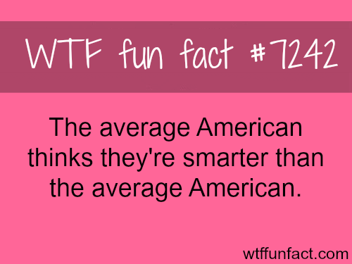 The average American - WTF Fun Fact