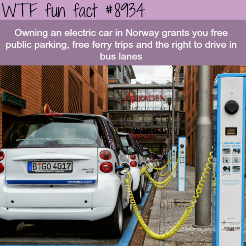 The Benefit Electric cars in Norway - WTF fun fact