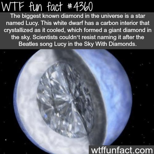 The biggest diamond in the universe -  WTF fun facts