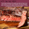 the blood out of a cooked steak wtf fun fact
