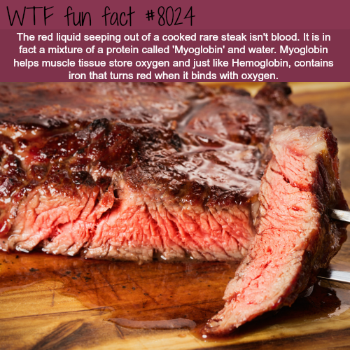 "The ""blood"" out of a cooked steak - WTF fun fact"