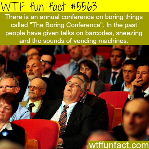 The Boring Conference - WTF fun facts