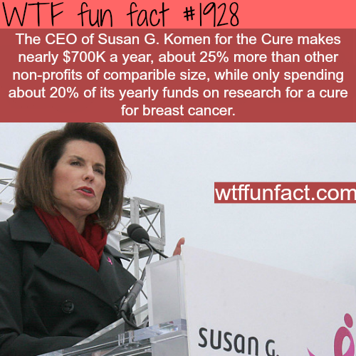 The CEO of Susan G. Komen salary - WTF fun facts