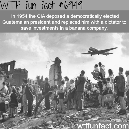 The CIA deposed a democratic president over bananas - WTF fun fact