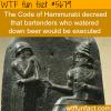 the code of hammurabi wtf fun fact