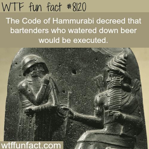 The Code of Hammurabi - WTF fun facts
