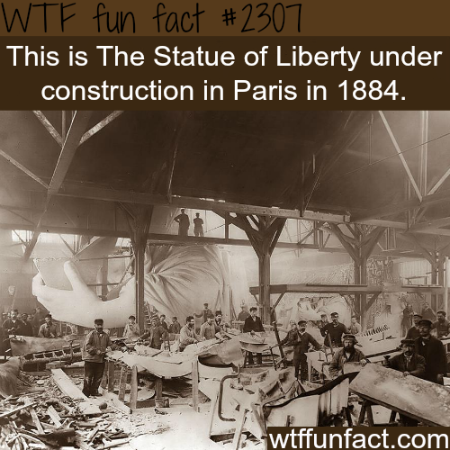 The construction of the the Statue of Liberty - WTF fun facts
