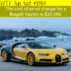 the cost bugatti veyrons oil change wtf fun