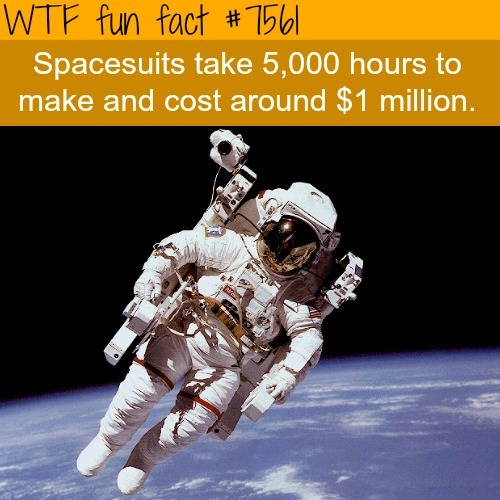 The cost of spacesuits - WTF fun facts