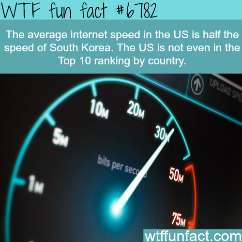 The countries with the highest internet speed - WTF fun fact