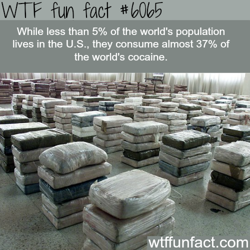 The country that consumes the most cocaine - WTF fun facts