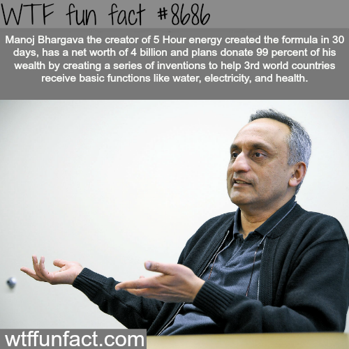 The creator of 5 Hour Energy - WTF fun facts