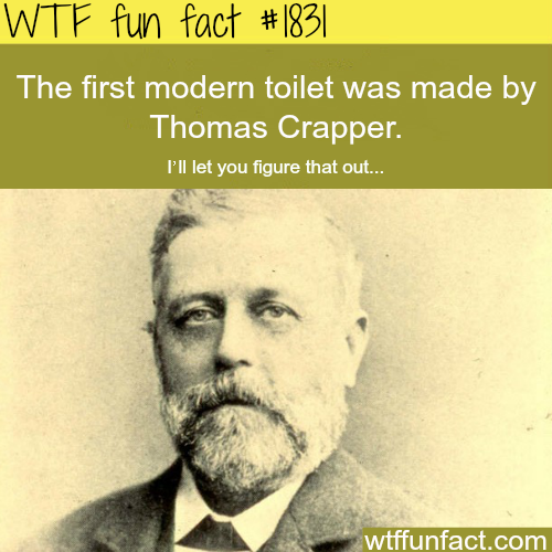 The creator of the modern toilet…- WTF fun facts