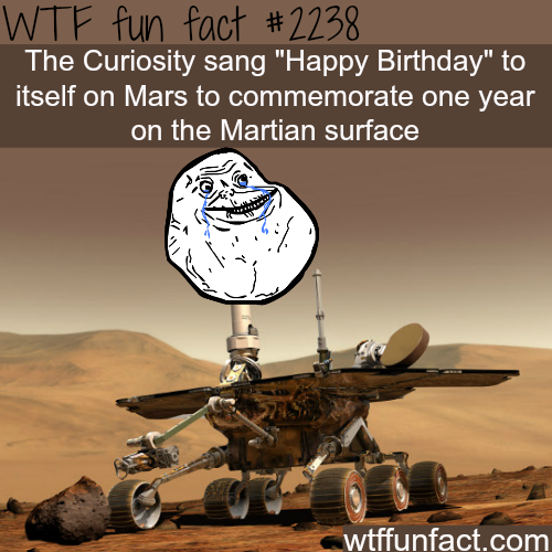 "The Curiosity sang 'happy birthday"" to itself - WTF fun facts"
