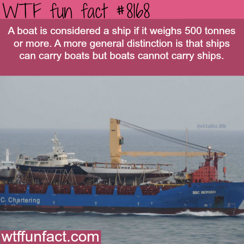 The difference between a boat and a ship - WTF fun fact