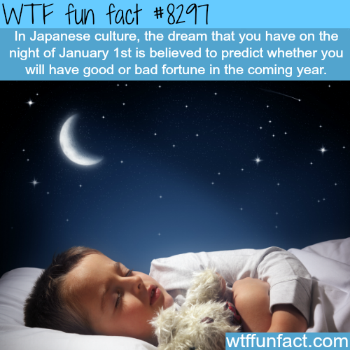The dream that you have January 1st - WTF fun facts