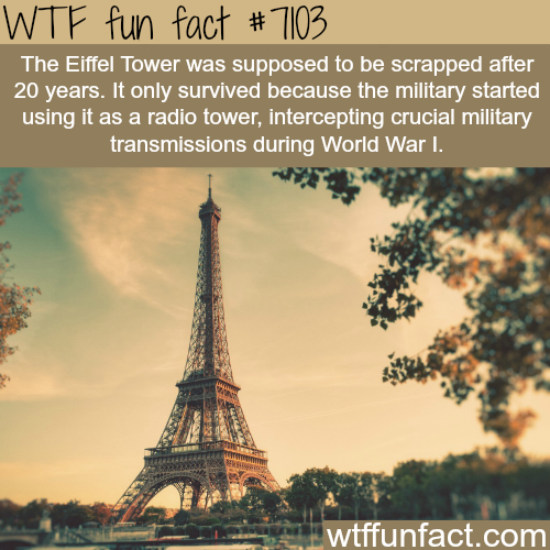 The Eiffel Tower - WTF fun facts